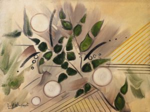 Fractions of nature an oil painting using oil on canvas