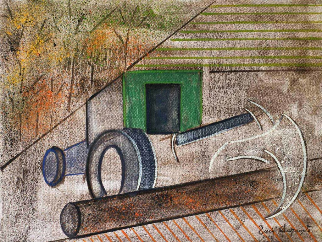 The game of machinery2 a figurative painting using oil on canvas
