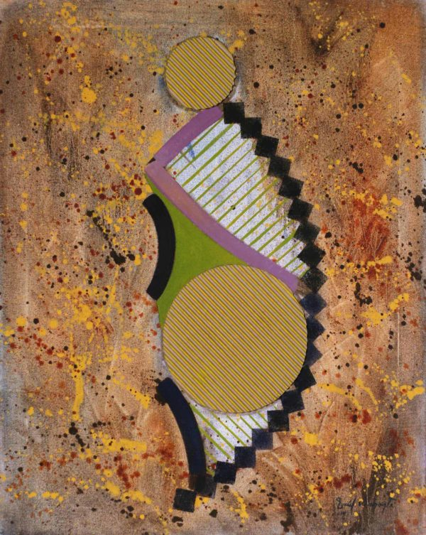 Venus3 an abstract painting using oil and carboard on canvas