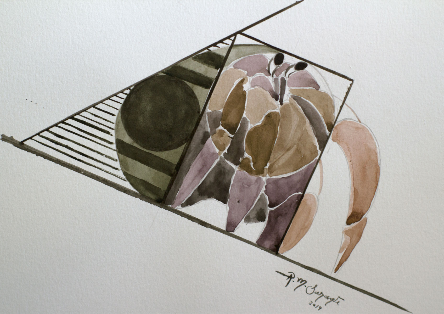 Crustacean no.3 using watercolor