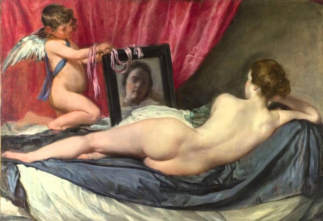 La Venus del espejo por Velazquez