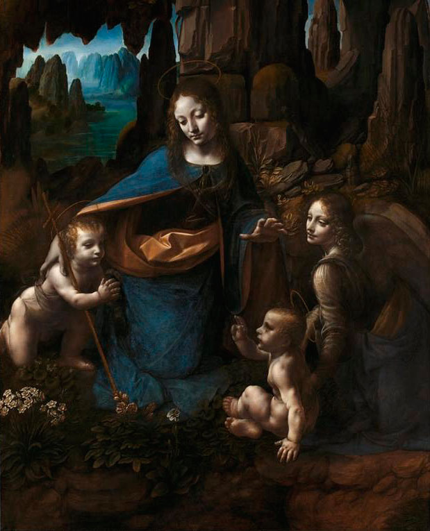 La virgen de la rocas por Leonardo Da Vinci