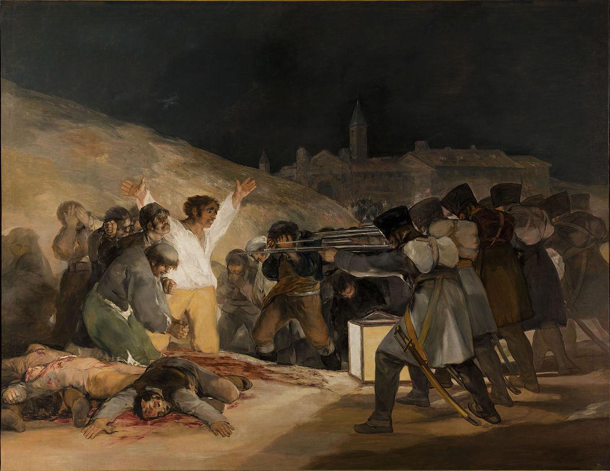 Los fusilamientos del 3 de mayo por Francisco de Goya