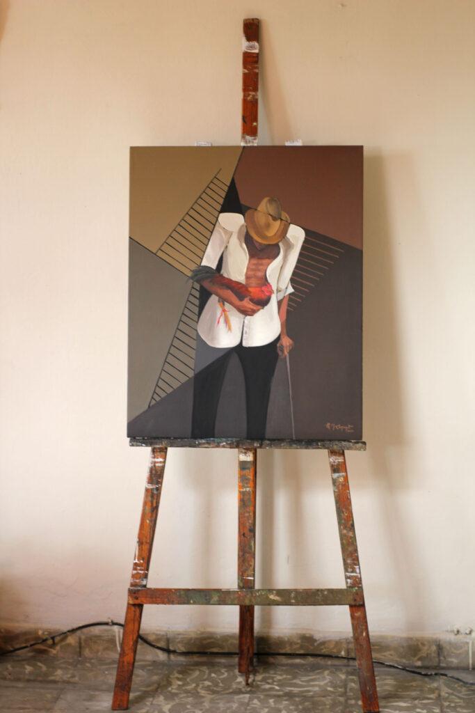 el gallero pintura oleo
