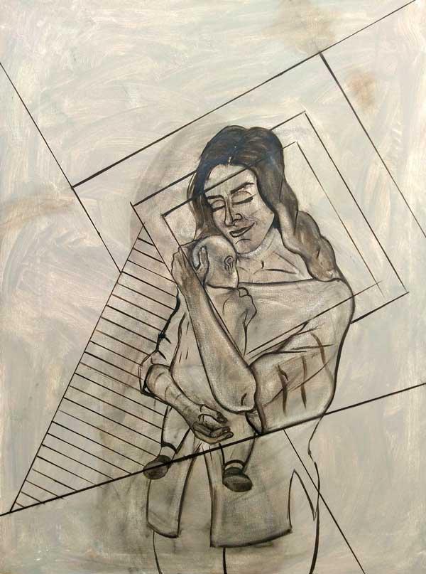 maternidad maternity artwork process