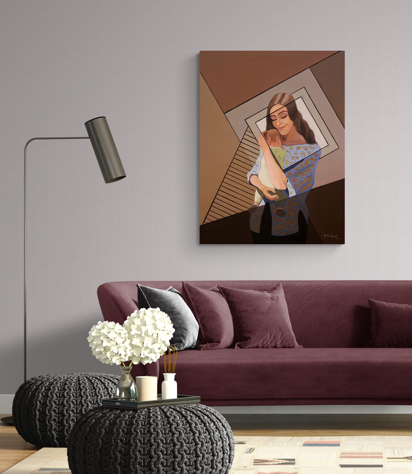 maternidad maternity living room interior_